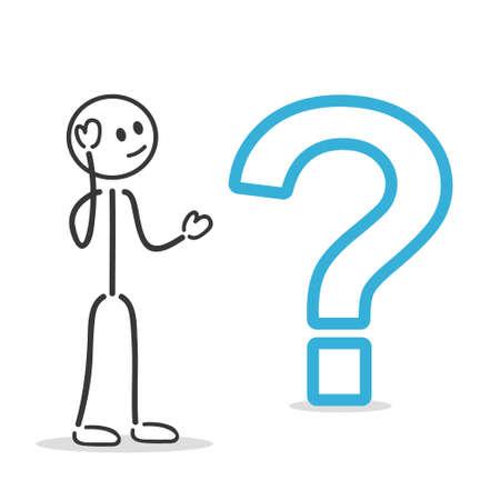 person thinking: signo de interrogaci�n Vectores