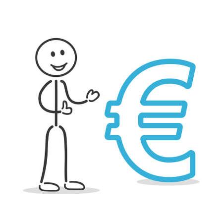 euro coin: euro sign