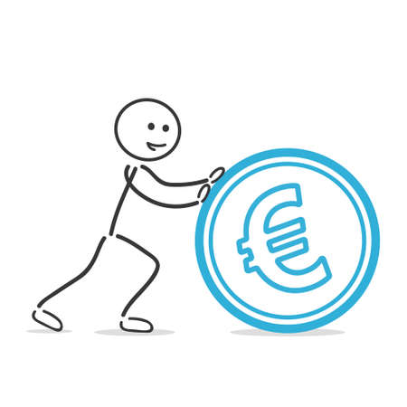 push: push euro coin