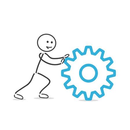 gearwheel: pushing gearwheel Illustration