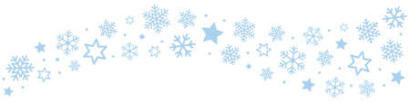 雪片氷の結晶ボーダー  イラスト・ベクター素材