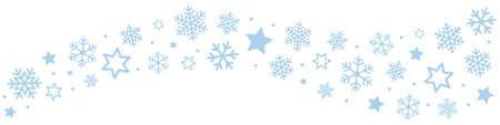 Snowflakes Ice Crystal Border