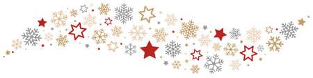 Sneeuwvlokken en Sterren Grens Stock Illustratie