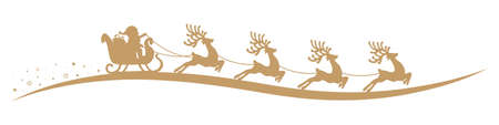 santa sleigh: santa claus reindeer sleigh isolated background