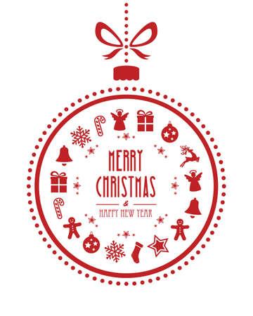 크리스마스 공 장식품 빨간색 흰색 배경