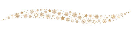 christmas stars: Snowflakes and Stars Border