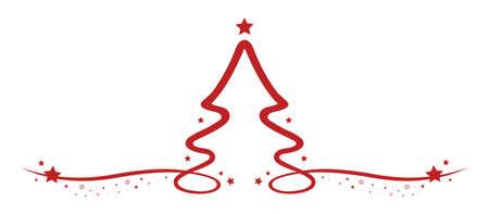 christmas tree drawing line red stars