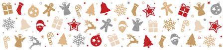 decoration elements: christmas pattern decoration elements background