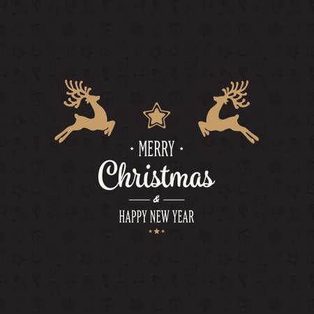 goud rendieren merry christmas card