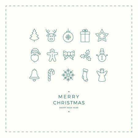 minimal: merry christmas minimal card