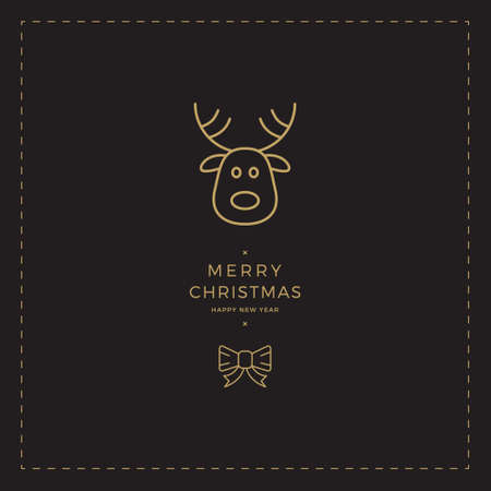 black gold: black gold reindeer christmas card