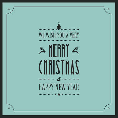 christmas greeting: merry christmas greeting card Illustration
