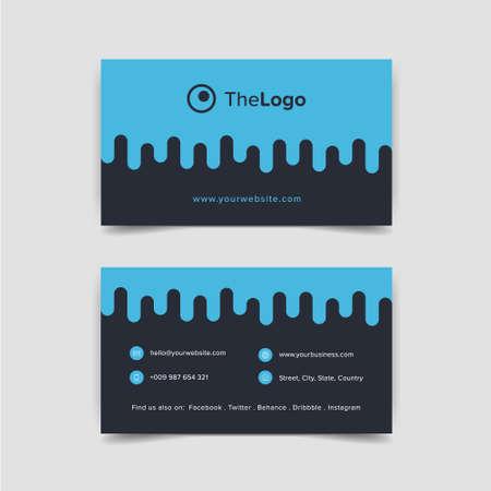 business card: creative design business card blue