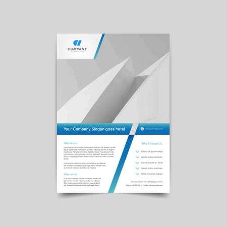 flyer layout: Business brochure flyer layout template Illustration