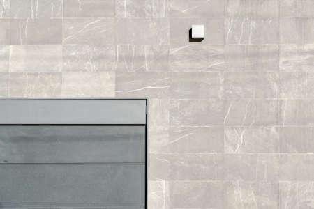architectural exteriors: minimalism building wall door