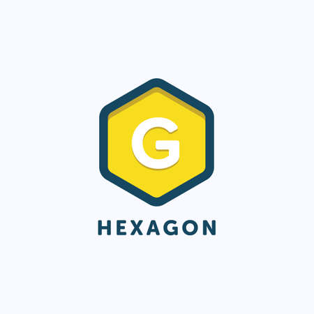 Hexagon G Letter Logo Template.