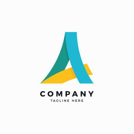 Una plantilla de diseño de logotipo de letra