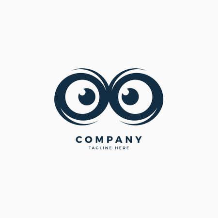 Modelo de Design de logotipo de olhos de coruja Foto de archivo - 93505925