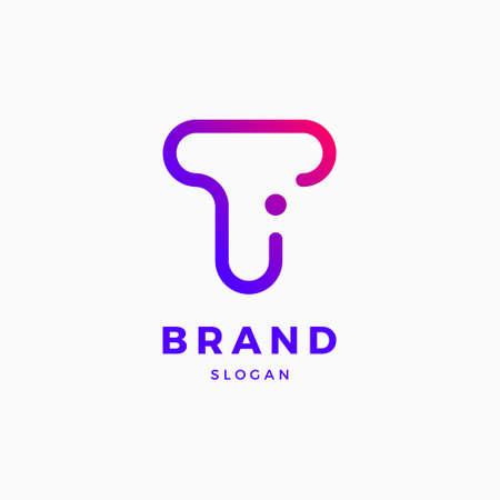 T I Brief Logo Design-Vorlage Logo