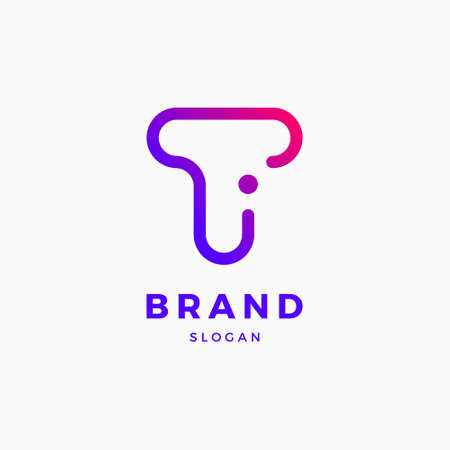 T I Letter Logo Design Template Çizim