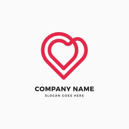 Infinity Heart Logo Design Illustration