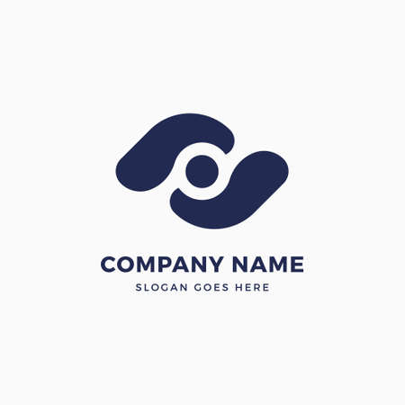 G Letter Eye Logo Design Template