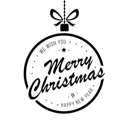 Merry christmas bauble greetings isolated background