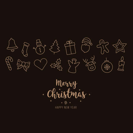 Christmas ornament icons elements card background