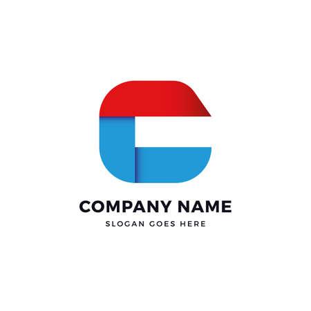 C letter vector logo design template. logotype concept element sign shape.