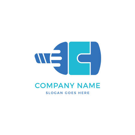 Connect vector logo icon design template. abstract logotype concept element sign shape. Çizim