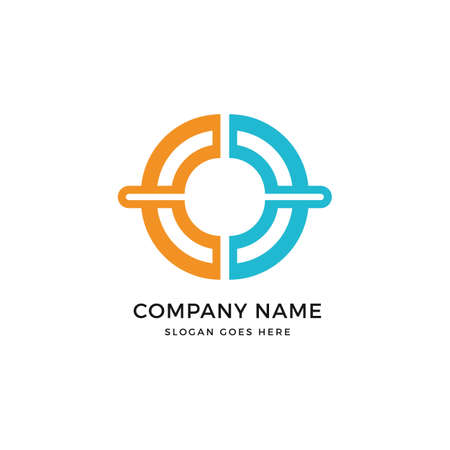 C letter network vector logo icon design template. abstract logotype concept element sign shape.