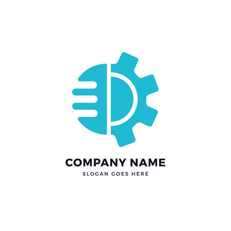 E letter gear vector logo icon design template. abstract logotype concept element sign shape.