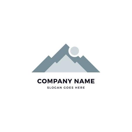 Mountain vector logo icon design template. abstract logotype concept element sign shape.