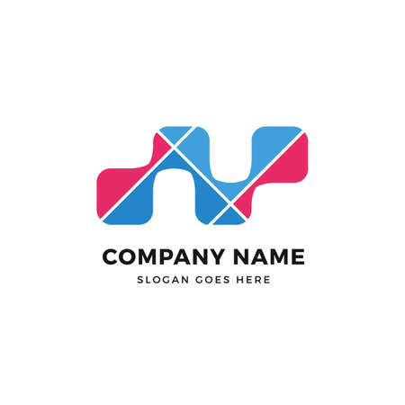 N Letter  vector logo icon design template. abstract logotype concept element sign shape.