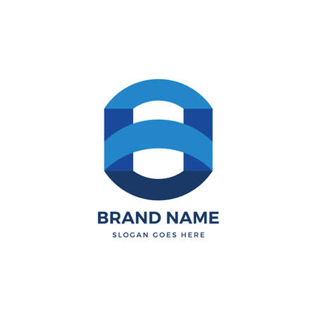 O Letter vector logo icon design template. abstract logotype concept element sign shape. Çizim