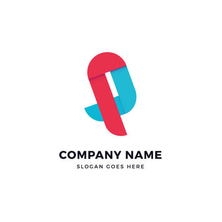 P letter vector logo icon design template. abstract logotype concept element sign shape.