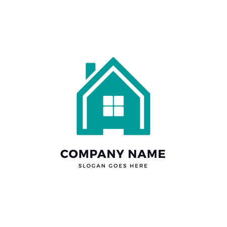 Smart home vector logo icon design template. abstract logotype concept element sign shape.