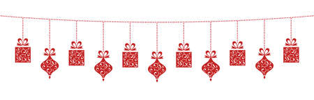 Hanging Christmas Decoration with lovely Christmas Elements.