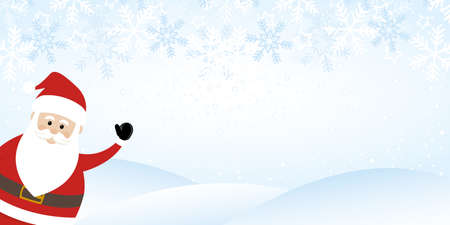 Wintry Background with Santa Claus vector greeting christmas card background