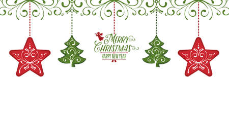 Christmas Card with Greetings decoration card element background