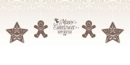 Christmas Card decoration card element background