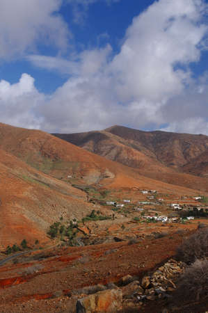 Mountain landscape of Betancuria on Fuerteventura Island, Spain. photo
