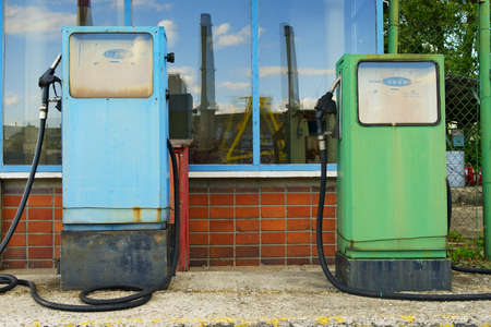 fuelling pump: Two old fuel pumps