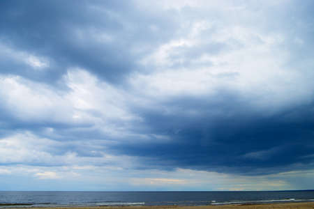 tempest: Stormy clouds over the Baltic sea.