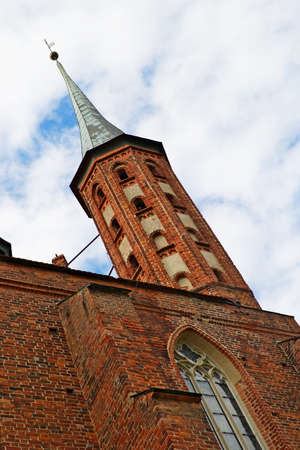warmia: Frombork, Poland - June 22, 2014 : Turret of the Arch-cathedral in Frombork.