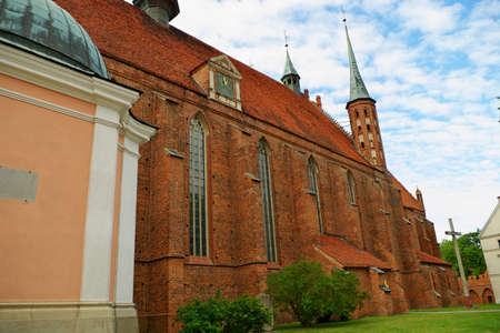 Frombork, Poland - June 22, 2014 : Arch-cathedral Basilica of Assumption of Blessed Virgin Mary and Saint Andrew in Frombork.