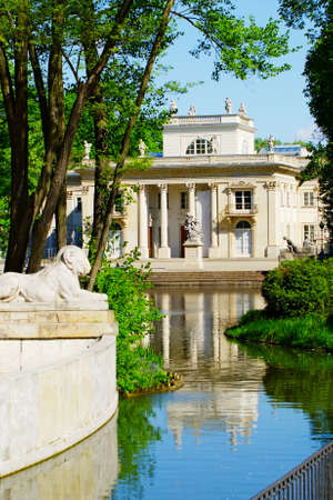 Warsaw, Poland - May 5, 2014 : The Palace on the Isle in Warsaw Royal Baths Park.