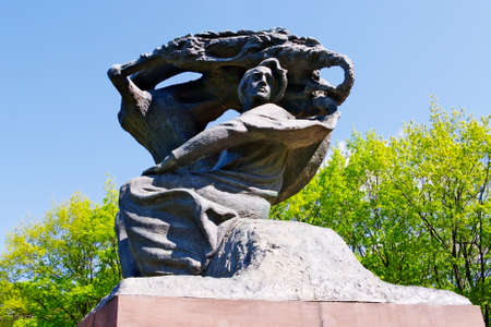 Warsaw, Poland - May 5, 2014 : Monument to Fryderyk Chopin in Warsaw Royal Baths Park.