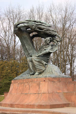 chopin: Monument of Fryderyk Chopin Stock Photo