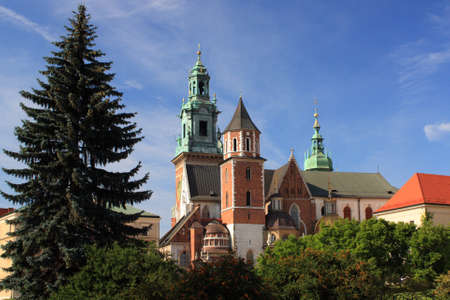 cracow: Wawel castle and cathedral (Cracow, Poland).